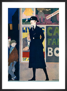 Policewoman, 1918 by Reginald Higgins