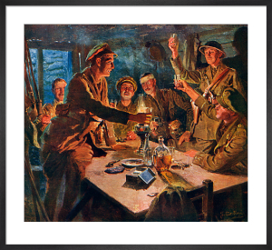 A Toast in the Dugout, 1917 by Fortunino Matania