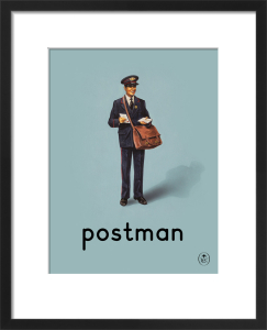 postman by Ladybird Books'