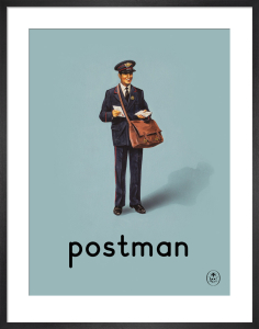 postman by Ladybird Books'