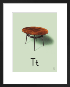 T is for table by Ladybird Books'
