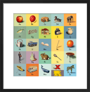 alphabet (letters) by Ladybird Books'