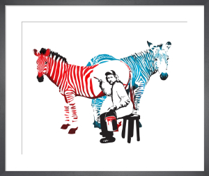 Zebra Painter by Sassan Filsoof