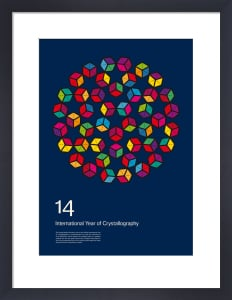 International Year of Crystallography 2014 #1 Blue by Simon C Page