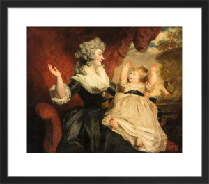 Georgiana, Duchess of Devonshire with her infant daughter Lady Georgiana Cavendish by Sir Joshua Reynolds