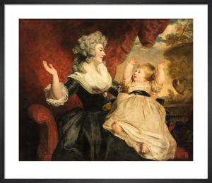 Georgiana, Duchess of Devonshire with her infant daughter Lady Georgiana Cavendish by Sir Joshua Reynolds