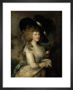 Portrait of Georgiana, Duchess of Devonshire, c.1785-87 by Thomas Gainsborough