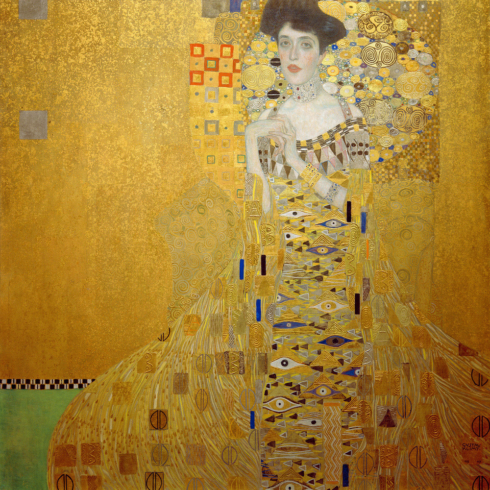 Portrait of Adele Bloch-Bauer I,1907 Art Print by Gustav Klimt ...