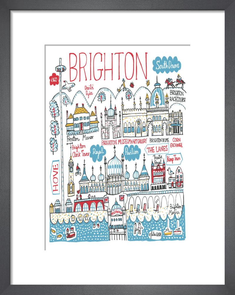 3b5934d845cd Brighton Art Print by Julia Gash