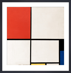 Composition in Red, Yellow and Blue, 1928 by Piet Mondrian