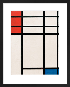 Composition in Red, Blue and White, 1939-41 by Piet Mondrian