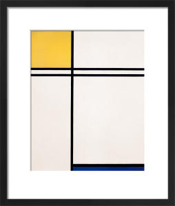 Composition with Yellow, Blue and Double Line, 1933 by Piet Mondrian