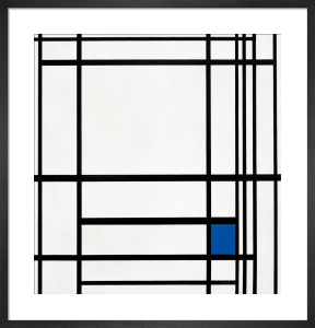 Composition of Lines and Colour III; Composition with Blue, 1937 by Piet Mondrian