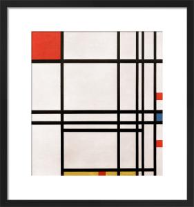 Composition No.8, 1939-42 by Piet Mondrian