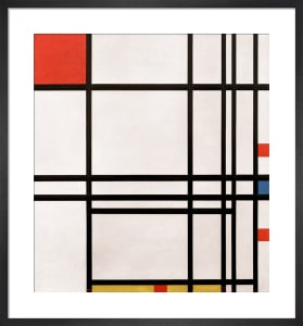 Composition No.8, 1939-42 by Piet Mondrian
