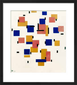 Composition in Colour B, 1917 by Piet Mondrian