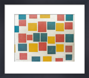 Composition No. 3; Composition with Coloured Surfaces 3, 1917 by Piet Mondrian
