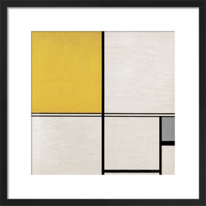 Composition with Double Line and Yellow and Grey (Composition B), 1932 by Piet Mondrian