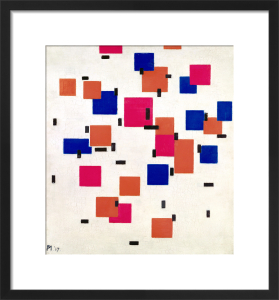 Composition in Colour A, 1917 by Piet Mondrian