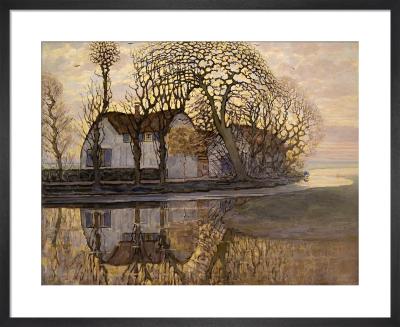 Farm near Duivendrecht, 1916 by Piet Mondrian