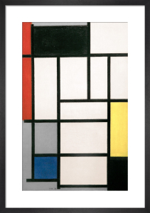Composition with Red, Black, Yellow, Blue and Grey, 1921 by Piet Mondrian