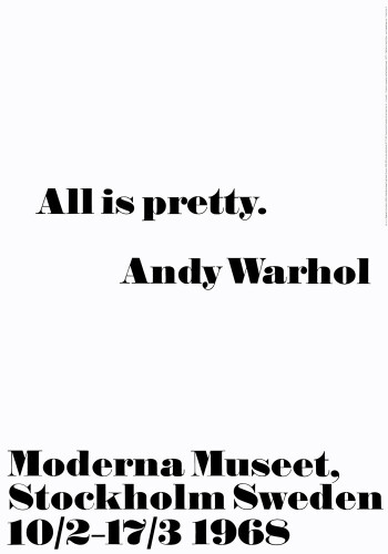 Andy Warhol Quotes Amazing All Is Pretty Art Printandy Warhol  King & Mcgaw