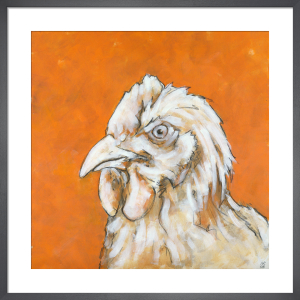 Chicken on Orange by Nicola King