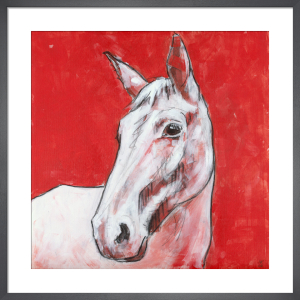 Horse on Red by Nicola King