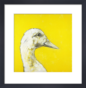 Goose on Yellow by Nicola King