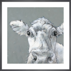 Cow on Grey by Nicola King