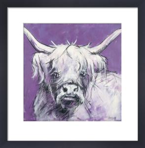 Bull on Purple 2 by Nicola King