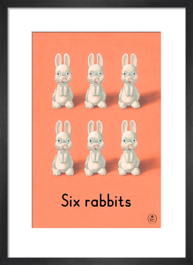 Six rabbits by Ladybird Books'