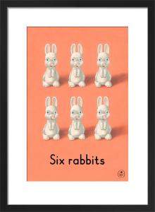 Six rabbits by Ladybird Books'