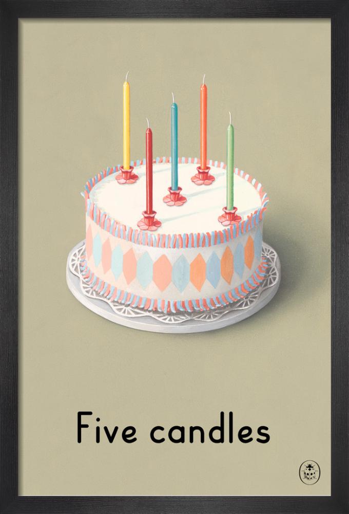 Five Candles Art Print By Ladybird Books