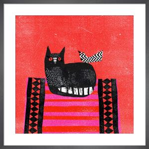 Black Cat, Red Mat by Madeleine McClellan