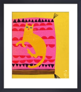 Hot Pink Cat by Madeleine McClellan