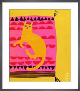 Hot Pink Cat by Madeleine McClellan
