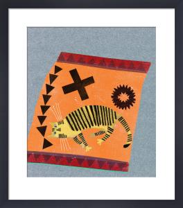 Mr Stripy on Orange by Madeleine McClellan