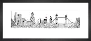 Gherkin and Tower Bridge by Charlene Mullen