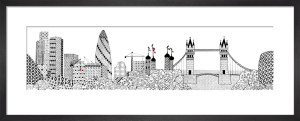 Gherkin and Tower Bridge by Charlene Mullen