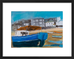Blue Hulled Boat by Emma Jeffryes