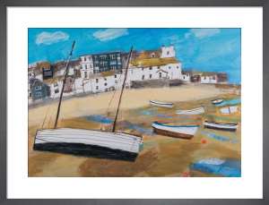 Boats on Harbour Sand by Emma Jeffryes