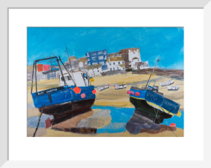 Two Fishing Boats, St Ives by Emma Jeffryes
