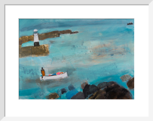 Fisherman and Lighthouse by Emma Jeffryes