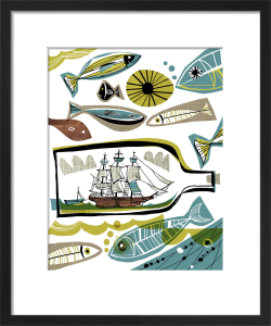 Ship in a Bottle 1 by Gillian Martin