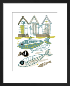 Beach Huts by Gillian Martin