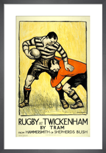 Rugby at Twickenham, 1921 by Dame Laura Knight