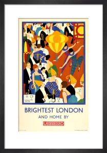 Brightest London and home by Underground, 1924 by Horace Taylor