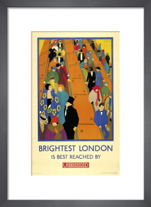 Brightest London is best reached by Underground, 1924 by Horace Taylor