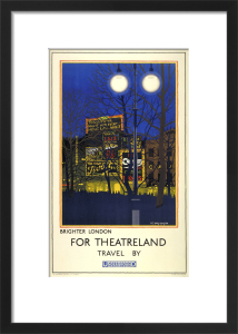 Brighter London for Theatreland, 1924 by Harold Sandys Williamson